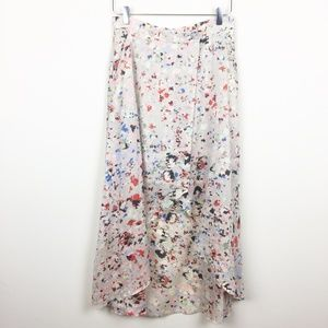 BCBG | Abstract Floral Wrap Midi Skirt